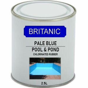 Chlorinated Rubber Swimming Pool Paint - Fish Pond Paint- 2.5 Litre Pale Blue