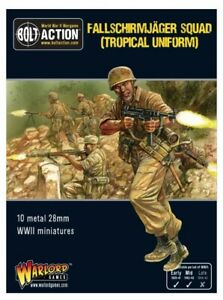 Warlord Games Fallschirmjager (Tropical) squad IN STOCK