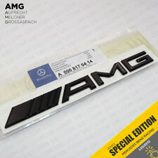 Luggage Lid AMG Nameplate Emblem 3D Trunk Logo Badge Decoration - Gloss Black