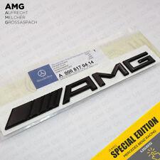 Luggage Lid AMG Nameplate Emblem 3D Trunk Logo Badge Decoration - Gloss Black