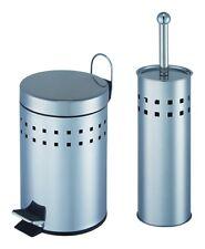 Bad Set mit Kosmetikeimer WC Bürstenhalter - Garnitur Toilettenbürste Mülleimer