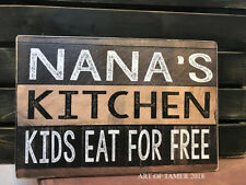 Nana'S Kitchen wood Sign 8X12 inches, Made In Usa