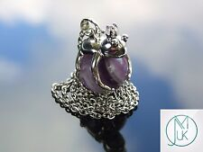 Amethyst Frog Natural Gemstone Pendant Necklace 50cm Healing Stone Chakra