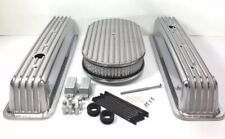 Finned Aluminum Valve Covers for Small Block Chevy w/ 15'' Air Cleaner