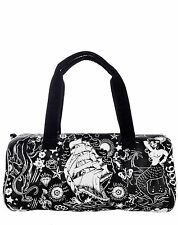 Too Fast Duffle Tote Purse Tattoo Pinup Rockabilly Overnight Gym Bag Flash Punk