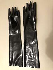 Latex Handschuhe, Gr. M, Schwarz, ungetragen