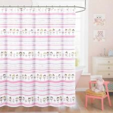Nicole Miller Kids Fabric Shower Curtain BALLET DANCER Pink White BALLERINA NEW
