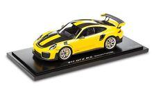 Porsche 911 991 Gt2 RS Weissach Package gelb schwarz Ye 2017 Spark 1 18