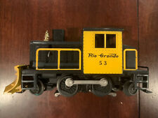 Lionel Trains 53 Yellow & Black Snowplow Rio Grande Vintage Postwar
