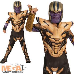 Thanos Boys Fancy Dress Avengers Endgame Villain Kids Halloween Childs Costume