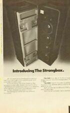 1976 JBL 4681 & 4682 Strongbox - save the family jewels - Vintage Ad