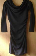 Women's MODA International Black Open Hang Neck Fitted Casual Formal Dress XS