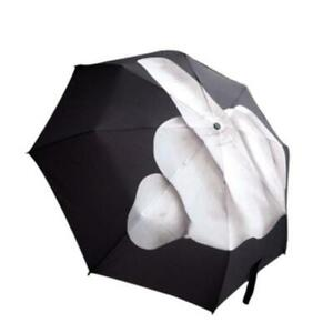 Creative Stylish Flexible Umbrella Middle Finger Yours Up Foldable Funny cool