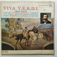 VIVA VERDI LP NABUCCO VESPRI SICILIANI 33 GIRI VINYL ITALY RCA ML 20165 VG/VG+