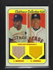 2018 Topps Heritage *** JOE MORGAN & CARLOS CORREA Clubhouse Game Relic Astros