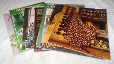 Set of 9 Vintage Afghan Craft Books