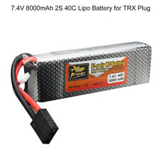 ZOP 7.4V 8000mAh 2S 40C TRX Plug Lipo Battery Buzzer Alarm For RC Model Aircraft