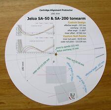 Jelco SA-50 & SA-200 Custom Designed Tonearm Cartridge Alignment Protractor
