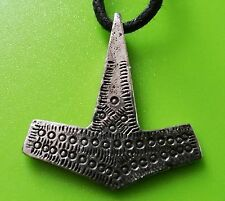 Viking Hammered Thor's Hammer Pewter Pendant - Hand Crafted in Scotland - Norse