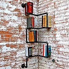 Industrial Iron Urban Style Steel Black Pipe Shelf Bogok Storage Shelf DIY Decor