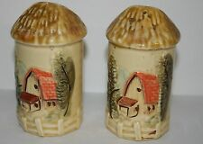 Country Silo Salt & Pepper Shakers Made in Japan