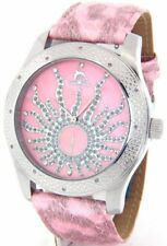 Ladies Techno Master Large Pink Face Watch #TMX-2127A