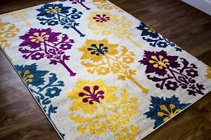 Super Area Rugs Contemporary Modern Ikat Area Rug in Beige