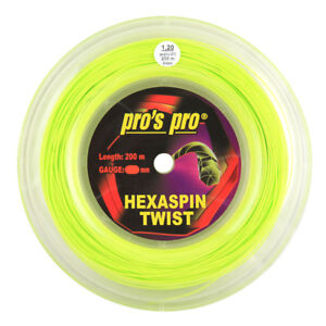 Pro's Pro Hexaspin Twist - 1.20mm - Lime - Tennis - String - Reel - 200m