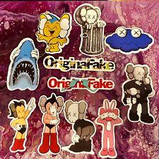 Kaws OriginalFake Stickers Collection Lot of 11 Original Fake Companion AstroBoy