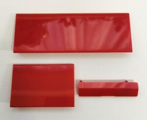 Nintendo Wii Console Door Cover Kit Flap Red Replacement Panel Covers Pack of 3