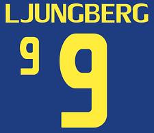 La Svezia Ljungberg Nameset maglia calcio Numero Lettera di calore stampa football 2008 a