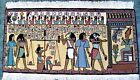"""EGYPTION HAND WOVEN TAPESTRY FAMOUS SCENE OF JUDGEMENT DAY FOR PHAROHS 28"""" X 48"""""""
