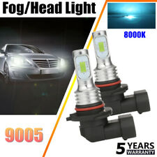 9005 HB3 LED Headlights Bulbs Conversion Kit High/Low Beam 80W 4000LM 8000K Blue