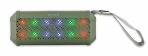 Wireless Bluetooth Portable Speaker with FM & LED Light Show TF/SD Ready (Green)