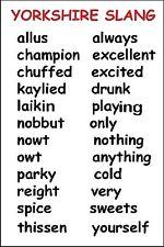 YORKSHIRE FRIDGE MAGNET - SLANG WORDS