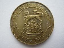 1921 George V silver Sixpence, NEF.