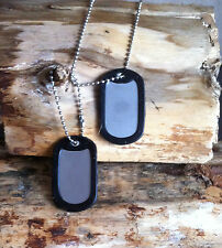 STAINLESS STEEL ID DOG TAGS ENGRAVED PERSONALISED CHAINS SILENCERS ENGRAVED FREE