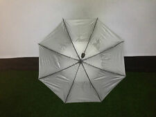 New Silver Fireform Staff Umbrella  UV/Solar Protection Gust Buster Self Opening