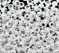 LOVE Silver Smooth Ball Spacers Beads Findings 2.4mm 10000x