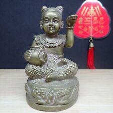 Guman Thong Rare Statue female Kumari Call Money Thai Amulet Good Business