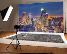 7x5ft Background City Night Scene Outdoor Photo Building Backdrop Studio Props