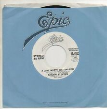 SHAKIN' STEVENS 45 RPM Promo Record A LOVE WORTH WAITING FOR Mint- 1983 Epic