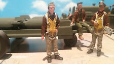 1/48 FIGURE ASSEMBLED AND PAINTED WWII BOMBER CO-PILOT WITH PINUP GIRL ON JACKET