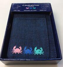 Charleston Threads Money Clip & Key Chain New $34.99 Denim Blue Crabs Gift NIB