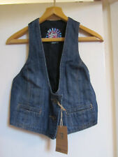 Dorothy Perkins Blue Faded Denim Waistcoat in Size 12 - NWT - tarnished buckle