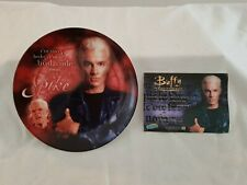 More details for buffy the vampire slayer series 1 spike collectors plate & coa boxed mint