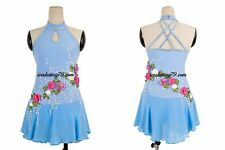 Ice Skating Dress/Figure Skating Clothe/Twirling/Leotard/B aton Competition Blue