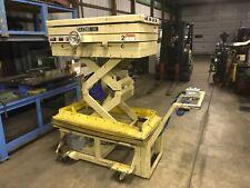 Scissors Lift Cart Airhydraulic Swivel Platform Twin Cylinder Will Ship