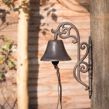 Haustürglocke im Landhausstil mit kustvollem Träger, Glocke Gusseisen