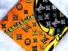 African Cotton Print Fabric Ankara Wax Beautiful *FREE P&P* [6 YARDS]